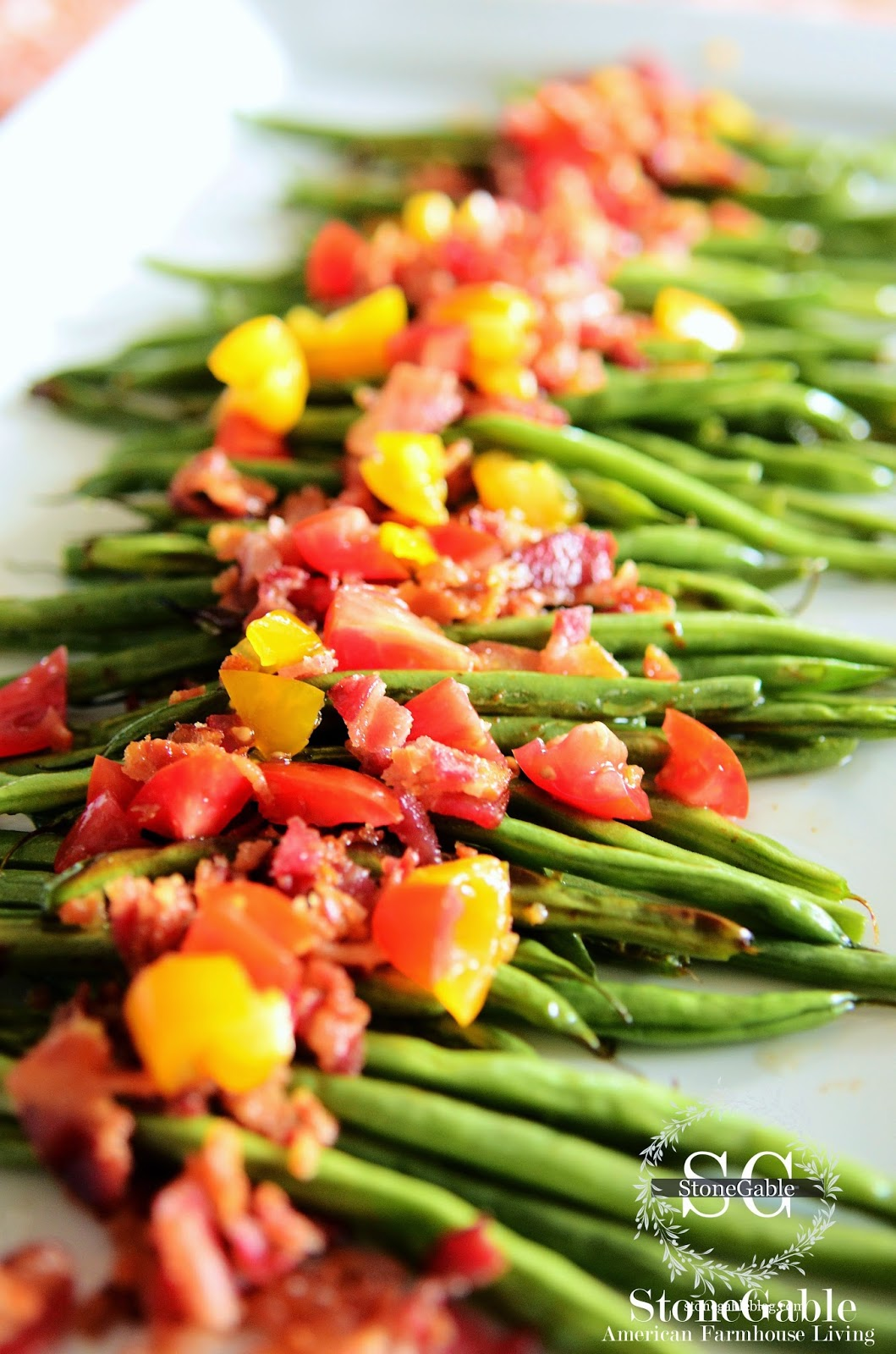 ROASTED GREEN BEANS WITH BACON… A MUST TRY!