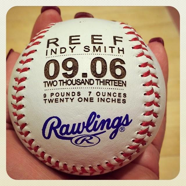 Urban Farmhouse Tampa Birth Announcement Baseball