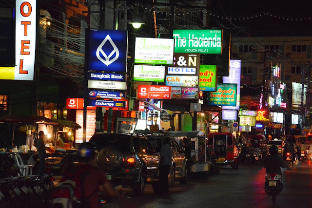 Patong Beach by night advertising
