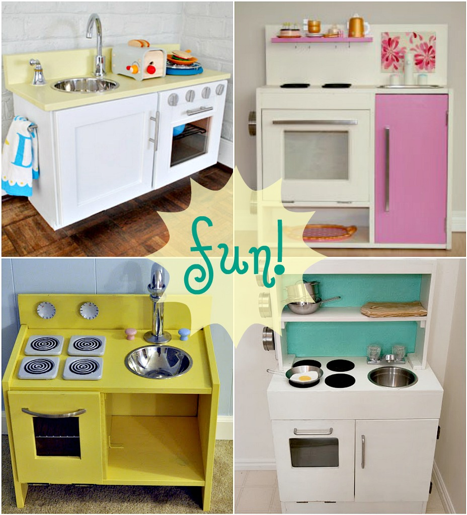Ikea hacks play kitchen house furniture for Diy cooking