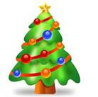 Small nondescript Christmas tree