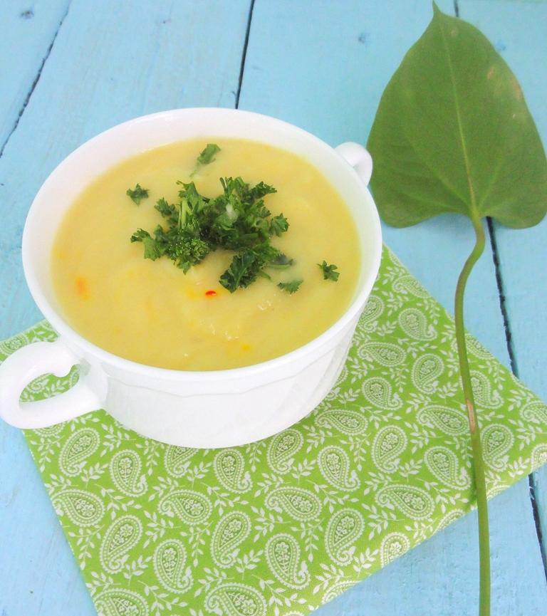 Суп из топинамбура с лимоном и шафраном