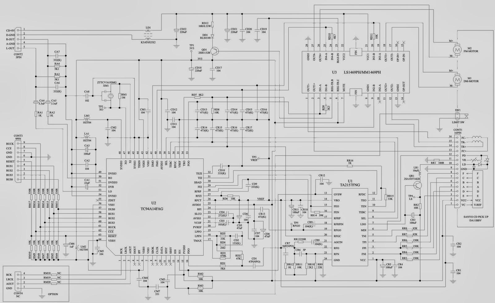 philco msp200 - micro-system - schematic diagram
