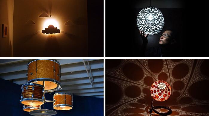 21 Lámparas y candelabros de bricolaje hechos de los objetos cotidianos