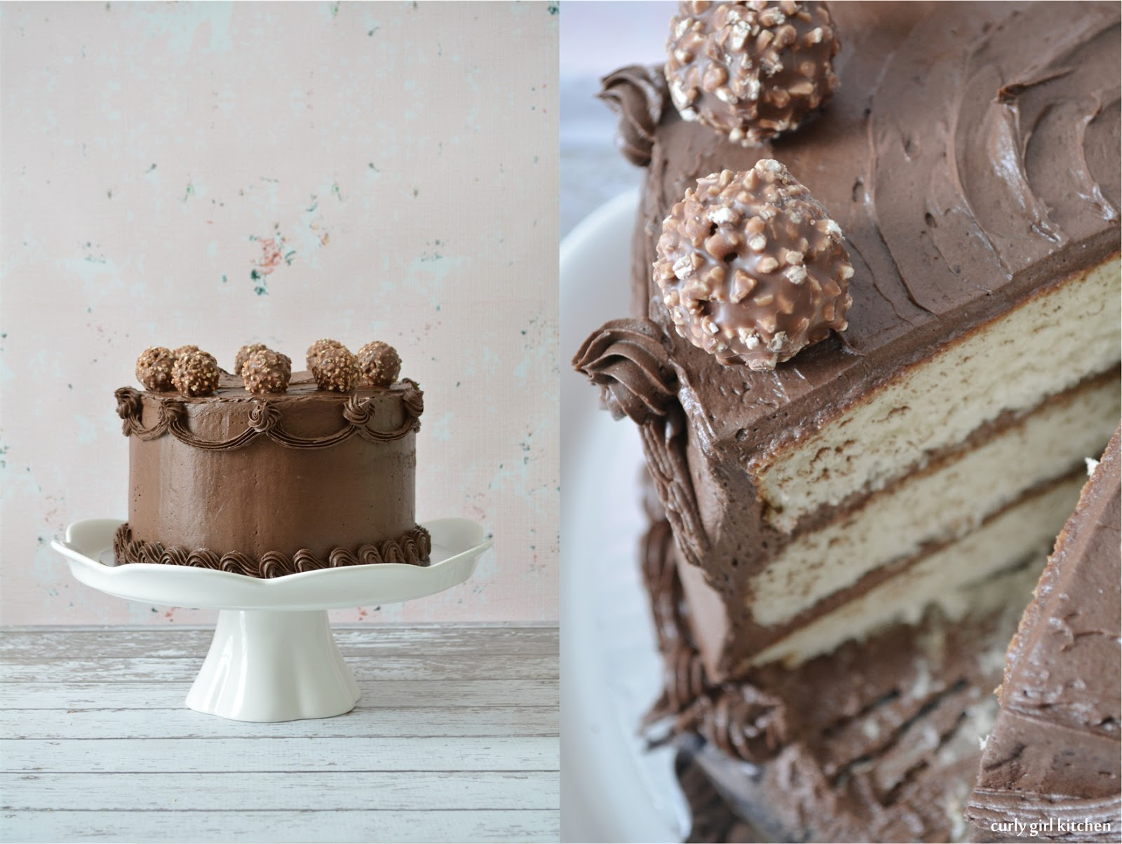 Curly Girl Kitchen White Almond Cake with Chocolate