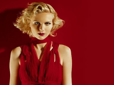 Kirsten Dunst In Red Dress Wallpaper