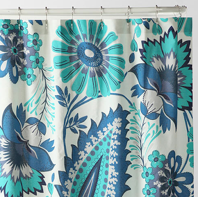 Tropical Paisley Shower Curtain Everything Turquoise