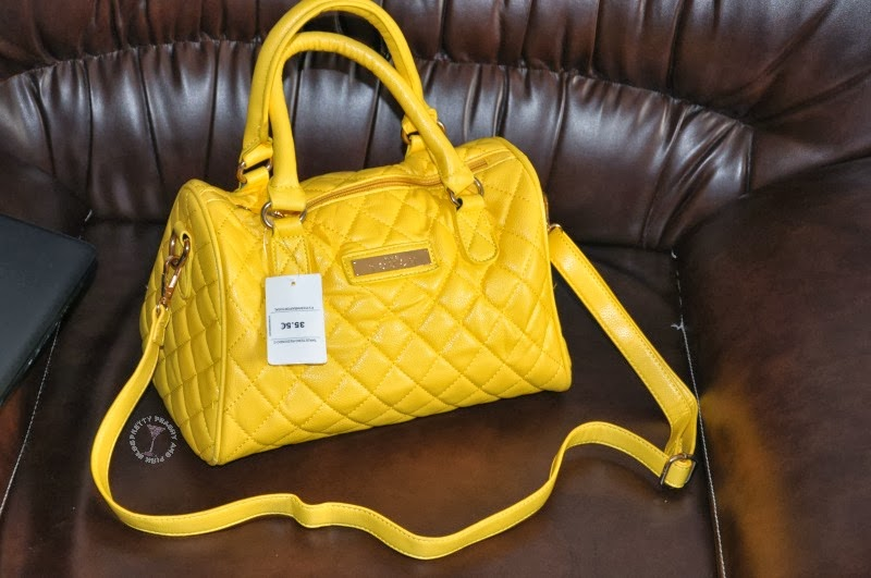 yellow MANGO bag