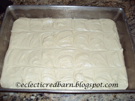 Eclectic Red Barn: Easy Cherry Squares batter