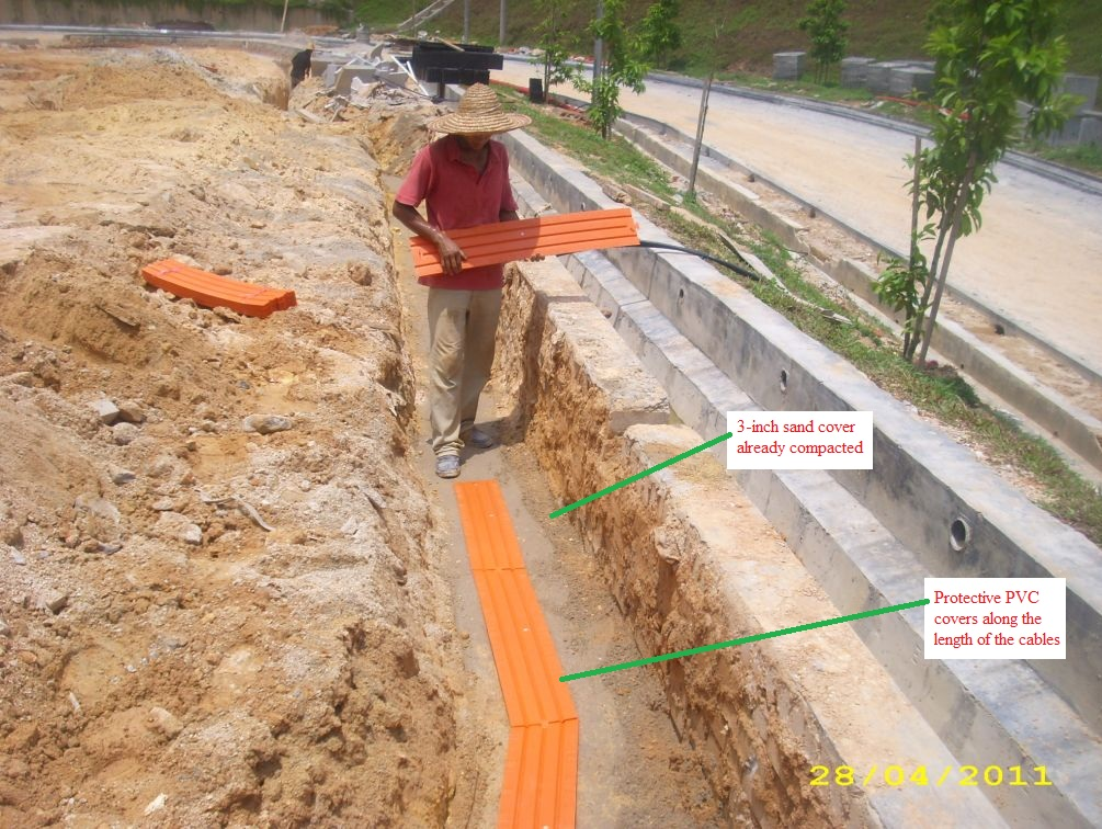 Electrical Installation Wiring Pictures: Underground street light cables