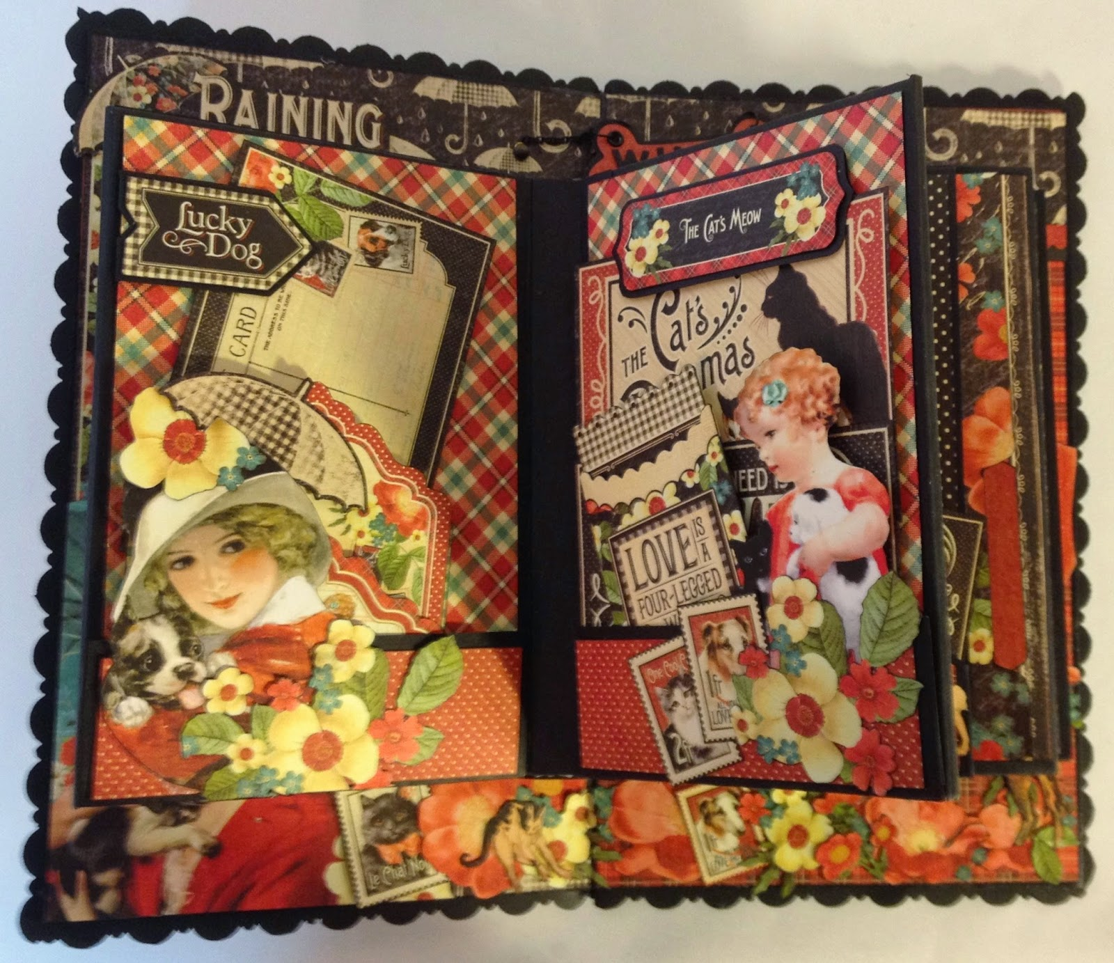 How to make scrapbook video - In This Video I Will Show How To Make And Fold The 2 Page Make Some Tags Pockets And File Folder And Start Decorate The Flaps And Fold Outs On This 2