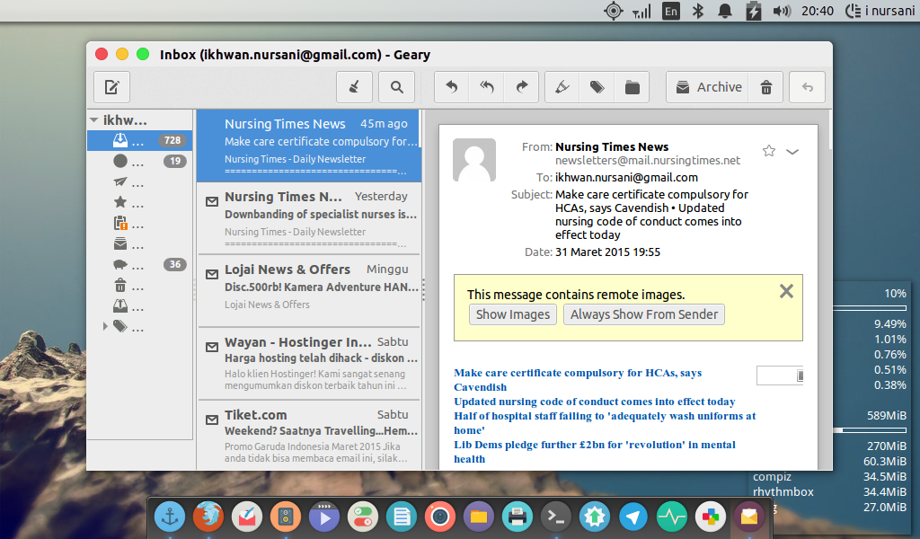 Geary: sebuah aplikasi email di linux - install aplikasinya di ubuntu anda!!!