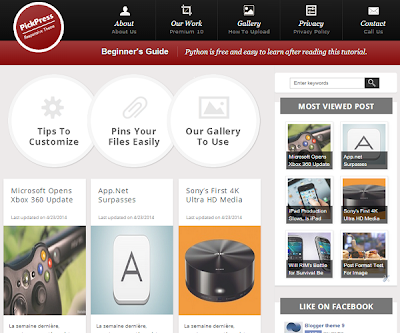 PickPress Responsive Blogger Template
