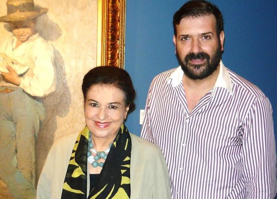 Με την Δ/ντρια της Εθνικής Πινακοθήκης Μαρίνα Λαμπράκη Πλάκα