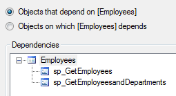 sql server object dependencies