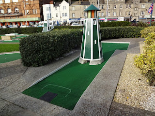 The Crazy Golf course in Hastings, East Sussex
