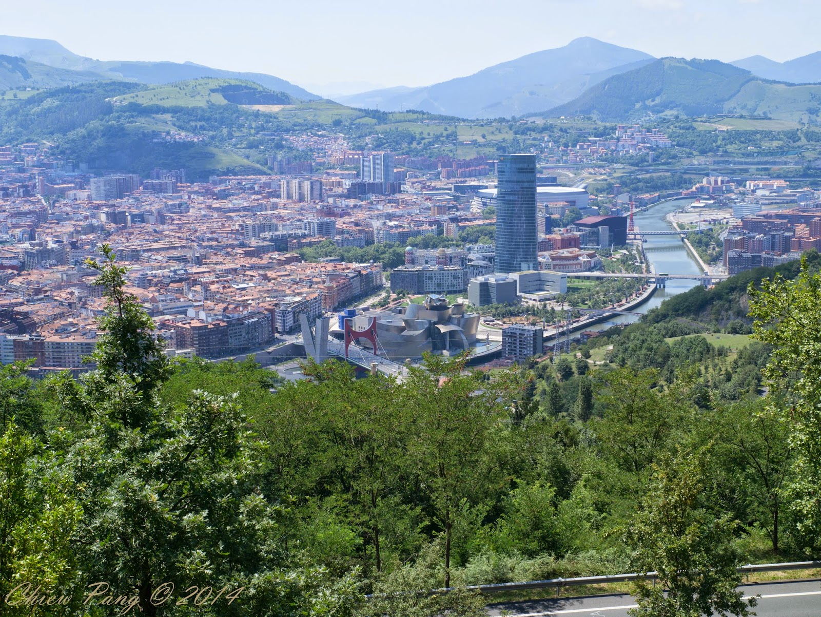 Bilbao in harsh daylight