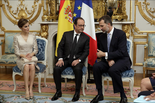 Felipe VI of Spain and Queen Letizia of Spain are on a three-day visit in France.