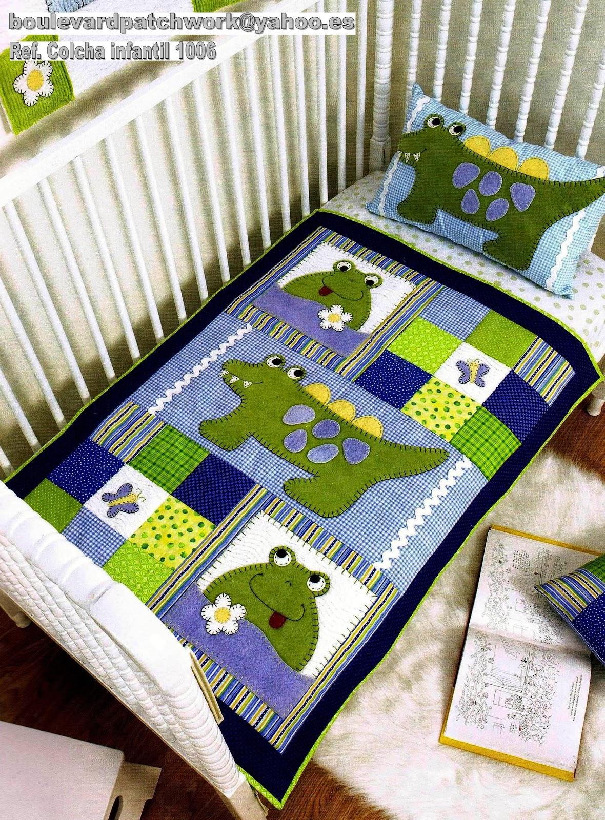 Boulevard del patchwork colchas infantiles de patchwork - Colcha patchwork ...