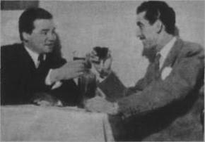 Alberto Marino con Emilio Balcarce