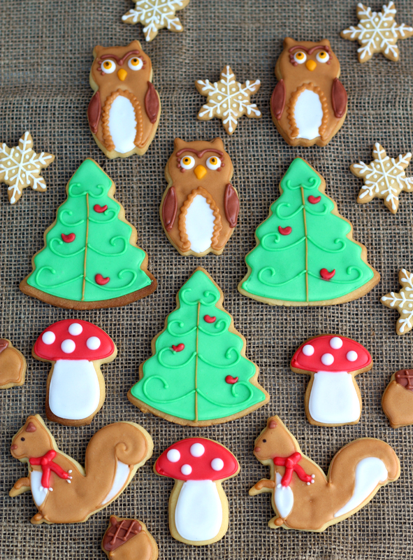 Butter Hearts Sugar Woodland Christmas Cookies