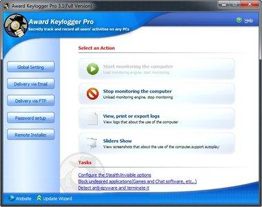 Award Keylogger Pro 3.1