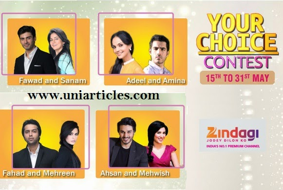 Zindagi 'Your Choice' contest for favourite 'Zindagi Jodi' |Celebrates first anniversary |Vote Now