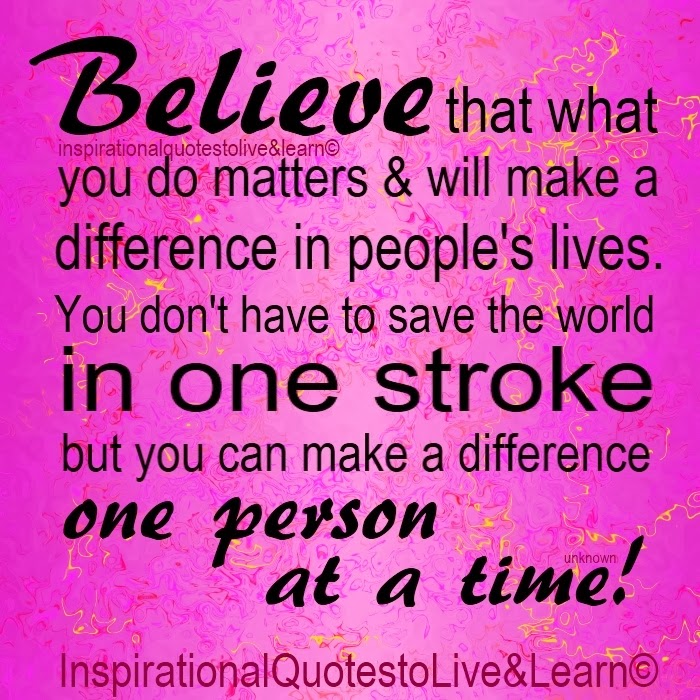 Believe you can make a difference, www.HealthyFitFocused.com