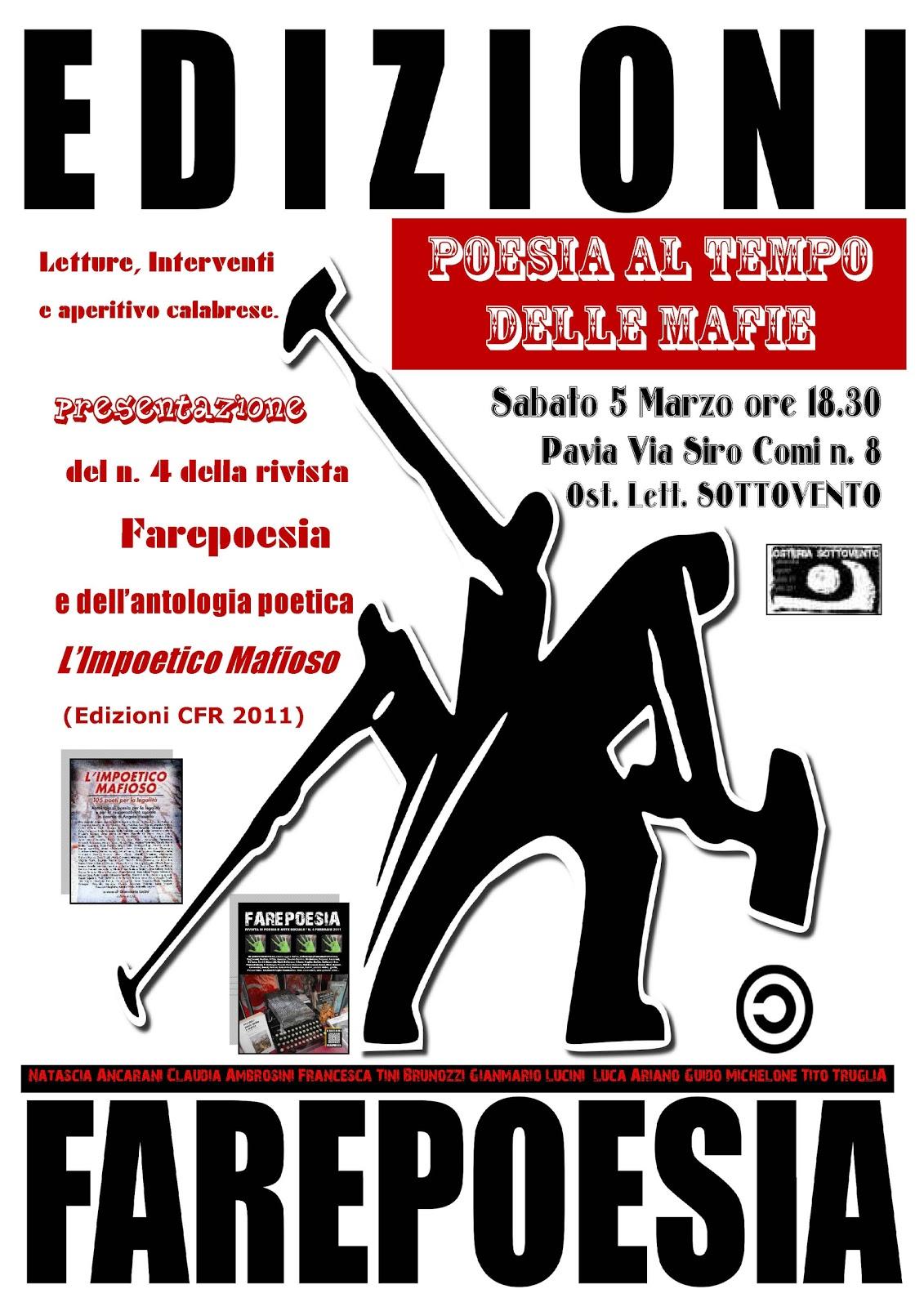 POESIA AL TEMPO DELLE MAFIE a Pavia 5 marzo | farapoesia