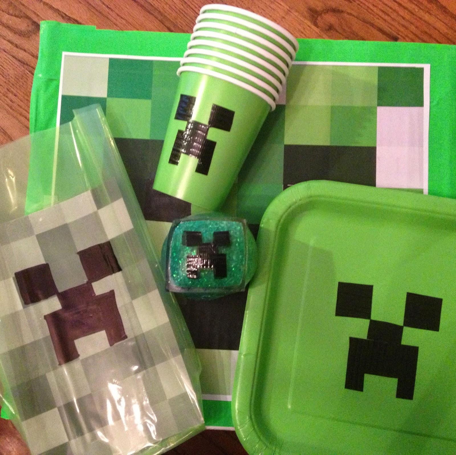 Party City Minecraft Cake Decorations