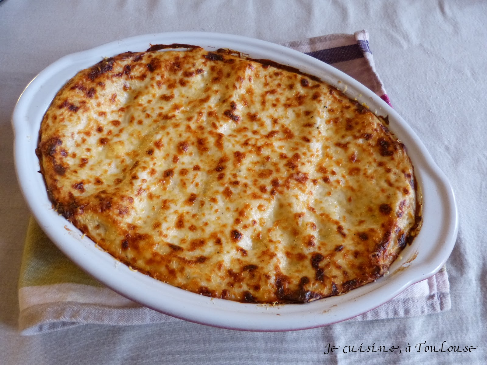 Je cuisine toulouse lasagnes la bolognaise for Plat cuisine bon pour la sante