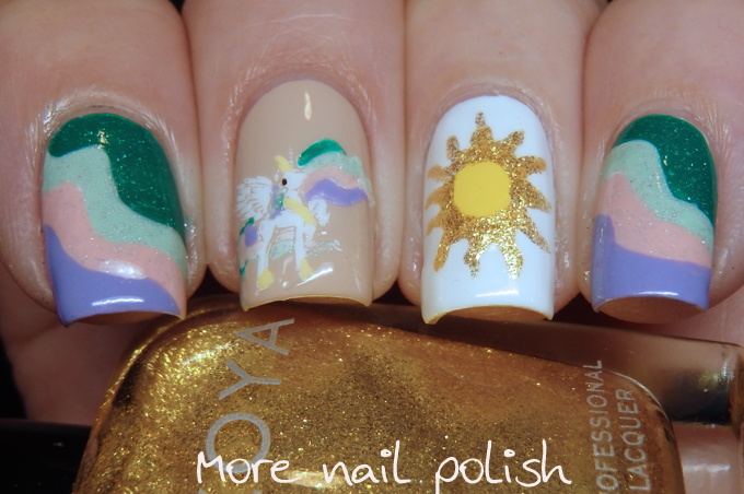 40 great nail art ideas cartoons and comics my little pony and just like my previous mlp manis i had to do miss 4s nails too prinsesfo Gallery