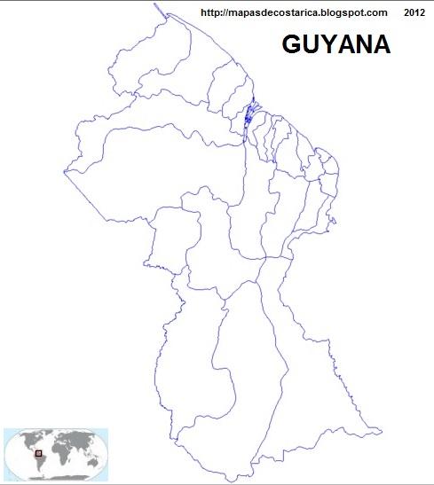 Mapa de Consejos vecinales de GUYANA para pintar