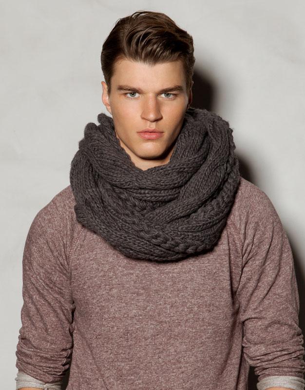 Bufanda circular tejida para chico. Alichemade