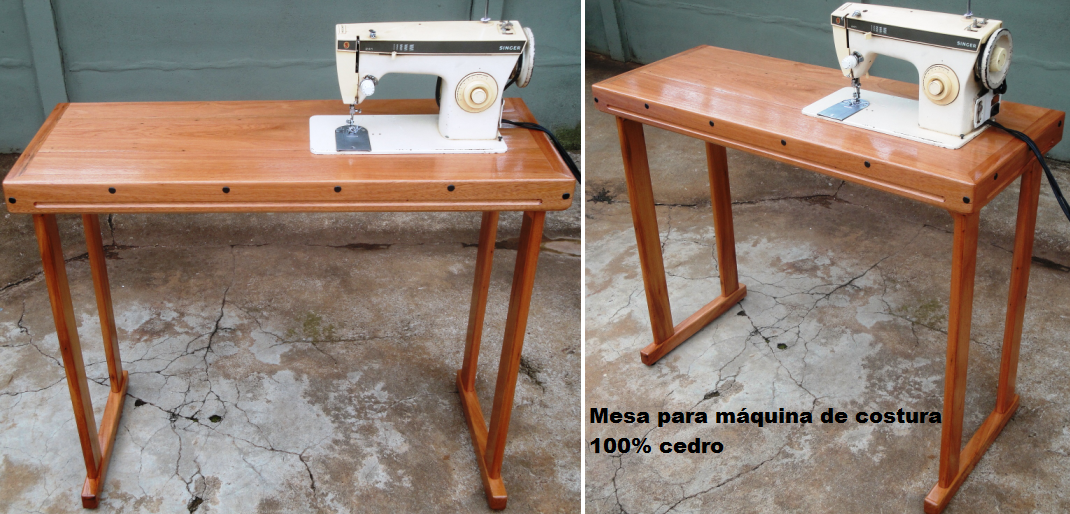 Luciano martins marcenaria mesa para m quina de costura for Mesa para maquina de coser