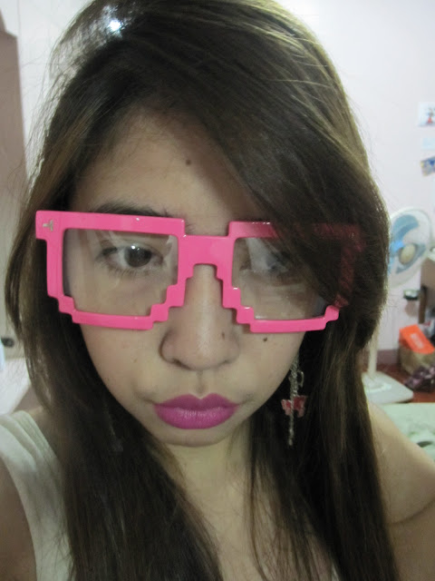 pink pixelated glasses