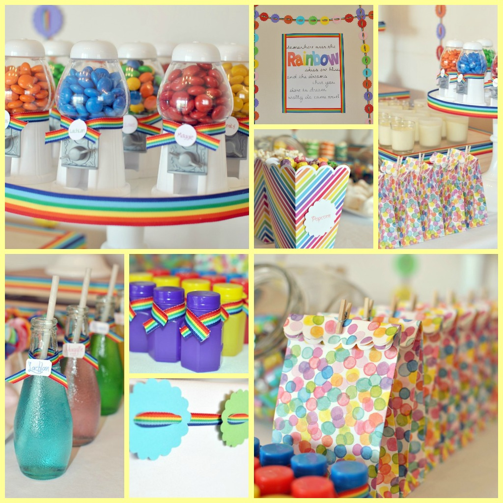 Taylor Made Baking: Claire's Rainbow 2nd Birthday Party