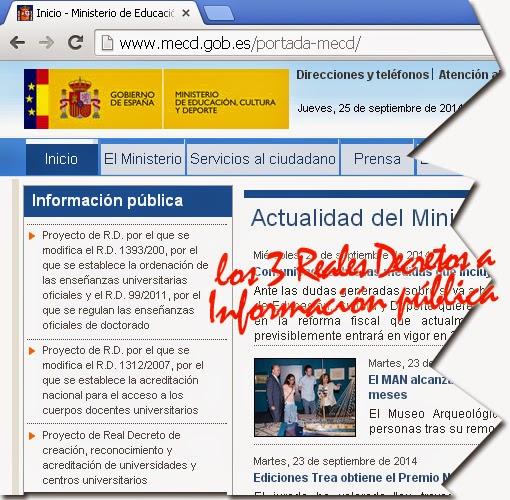 Ccoo universidad de la laguna el boe publica cambios en for Pagina web ministerio interior