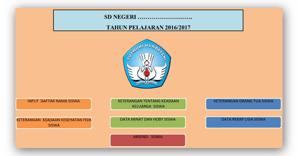 Aplikasi Daftar Kelas Sd Terbaru Tahun Ajaran 2016 2017 Guru Keguruan