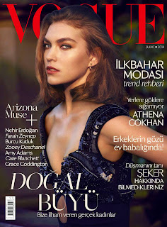 Arizona Muse Vogue Turkey Magazine Cover February 2014 HQ Scans