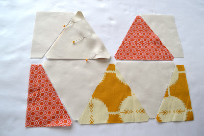 sewing equilateral triangles tutorial