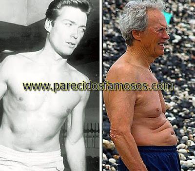 Clint Eastwood Famosos antes y después