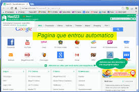 retirando pagina inicial hao123,22find, qov6, portal dos sites