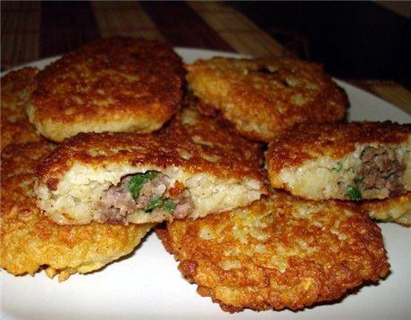 Картофельные драники с мясом