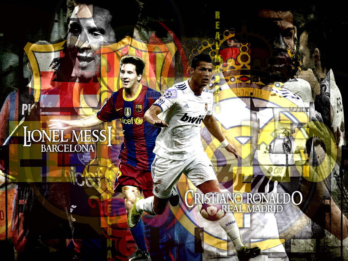 Lionel Messi vs Cristiano Ronaldo New HD Wallpapers