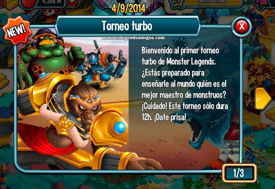 imagen del torneo temporal turbo de monster legends