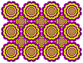 growing flowers optical illusion