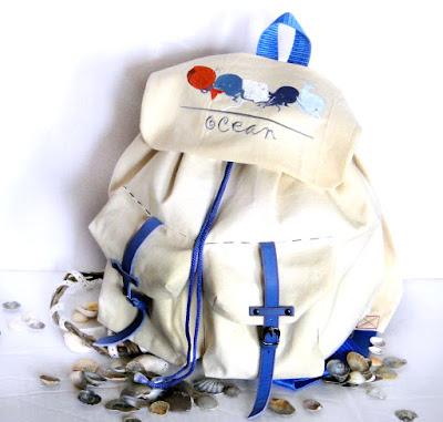 Женский рюкзак для отпуска - сумка в морском стиле