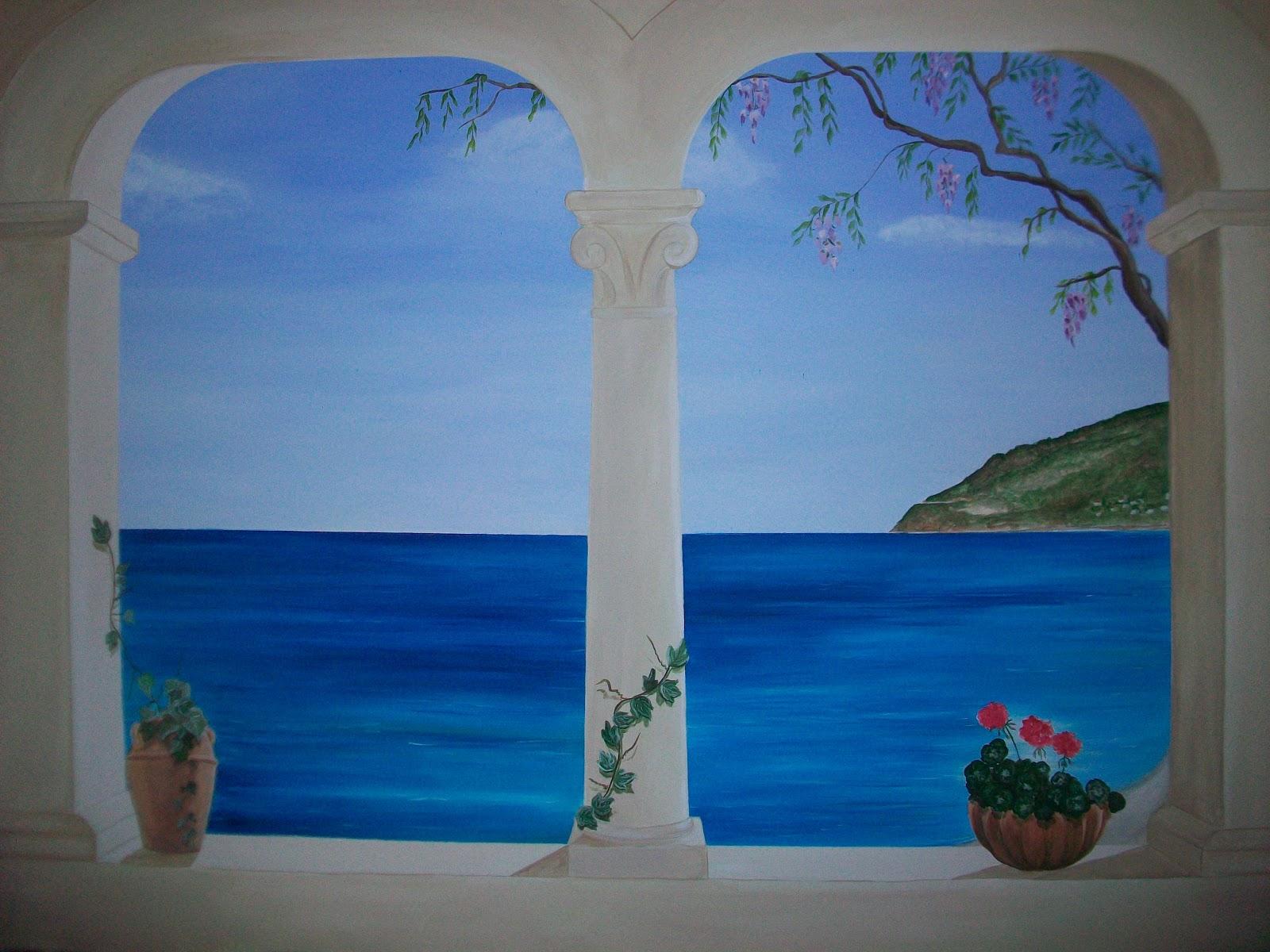 Trompe l 39 oeil murales decorazione pareti camerette - Decorazione di interni ...