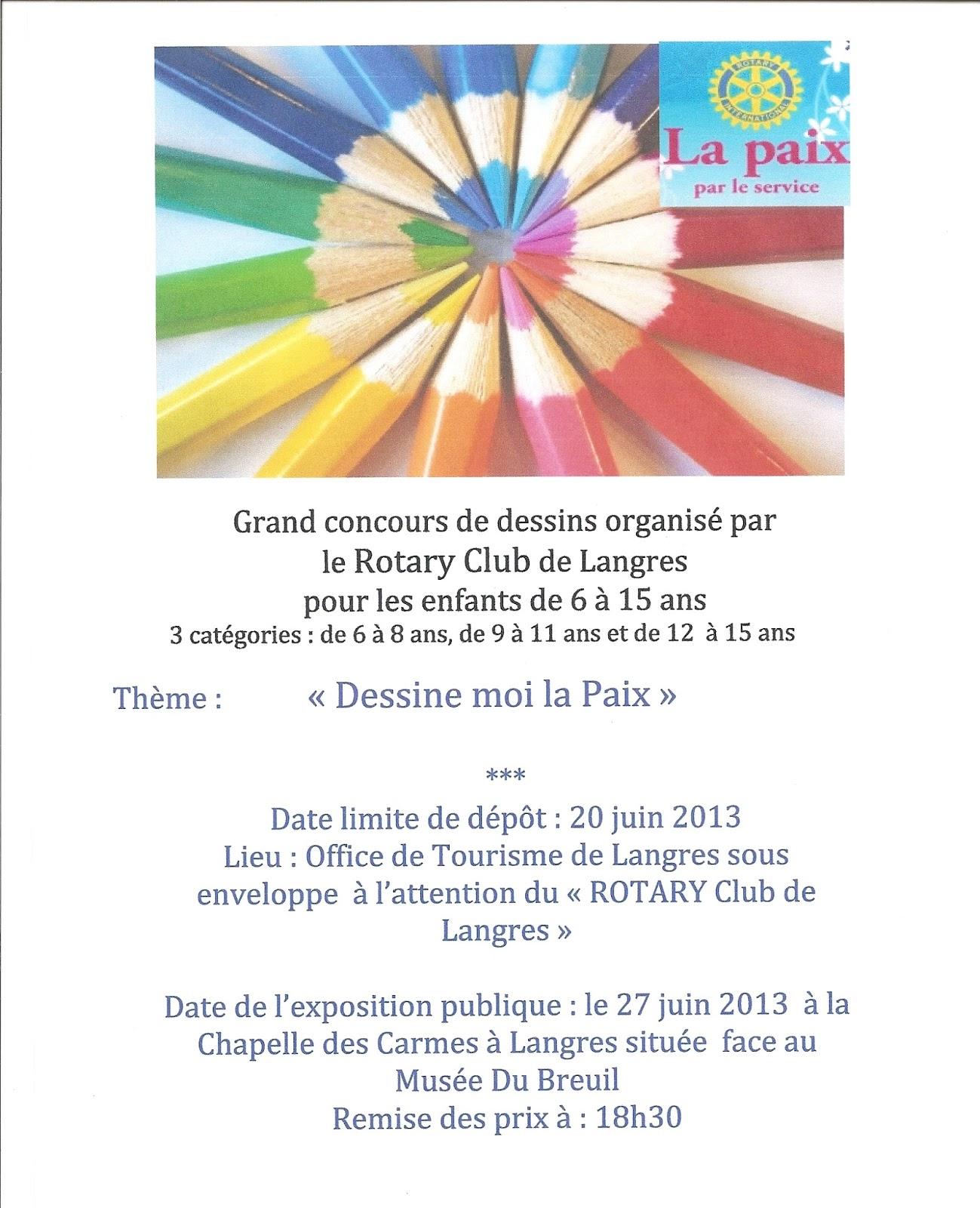 Concours de dessins sur le theme de la paix dans le monde rotary club de langres - Dessin sur la paix ...